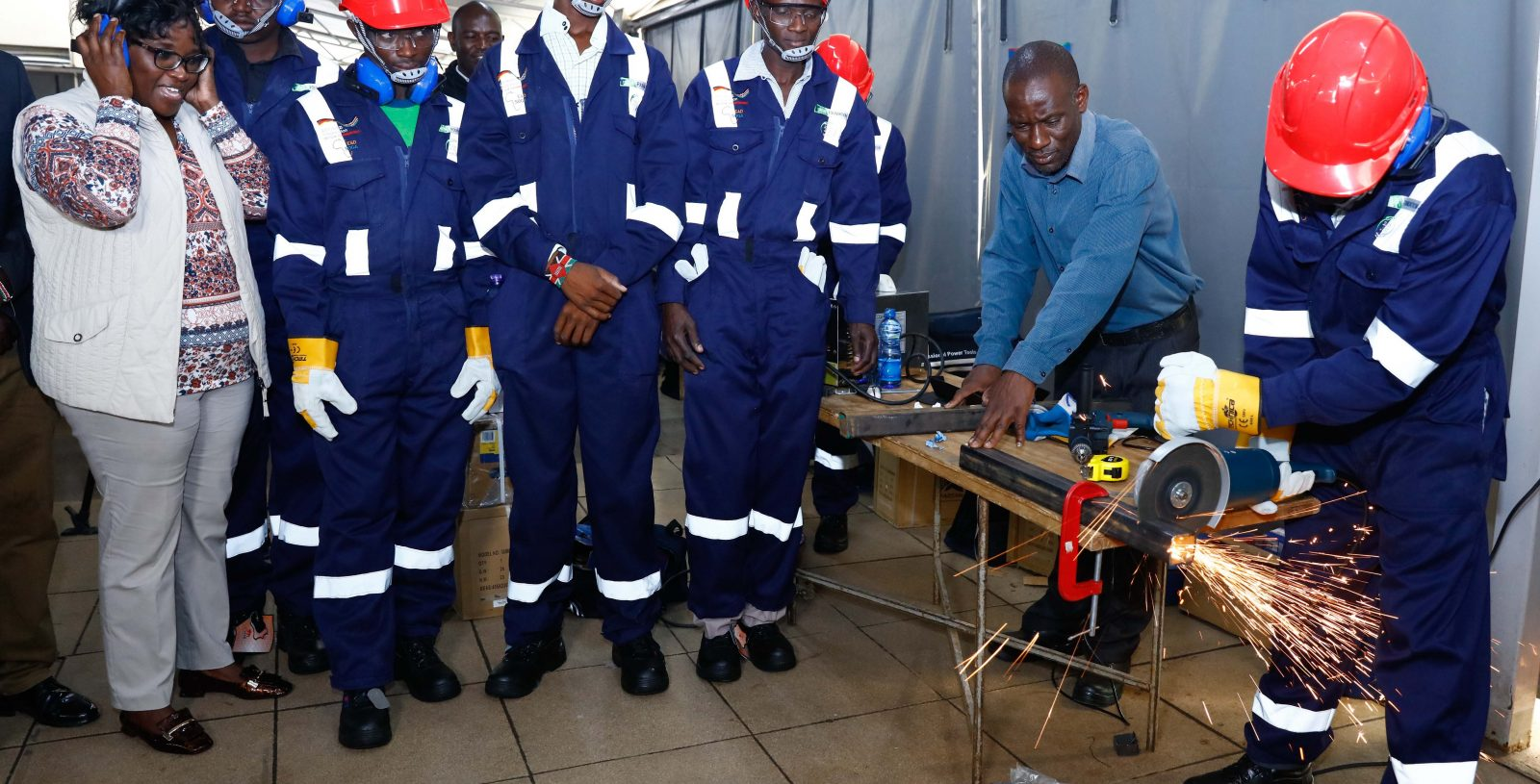 KCB Foundation Kits Youth in the Construction Sector